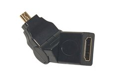 Переходник PowerPlant HDMI AF - micro HDMI AM, 360 градусов